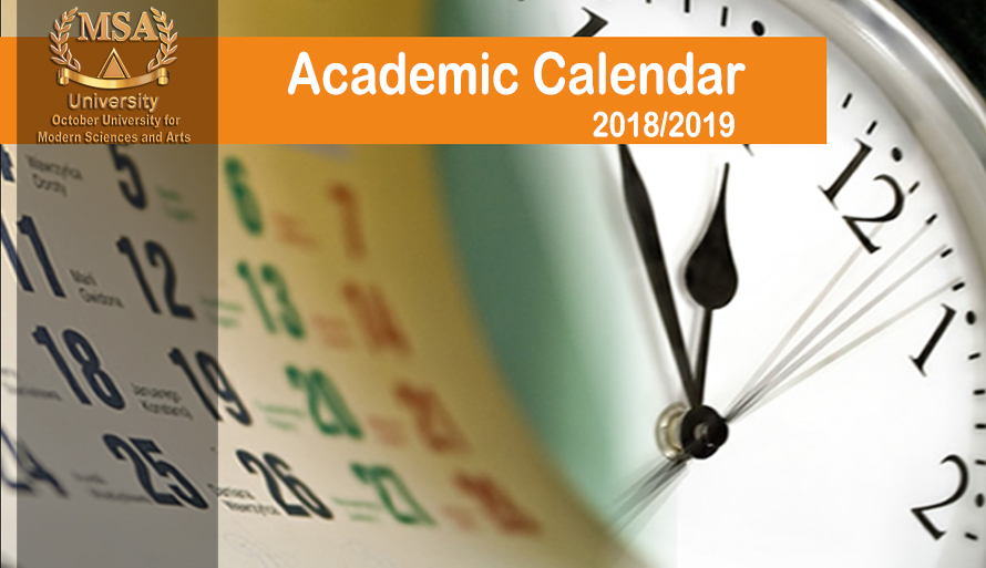 Academic Calendar for the year 2018/2019