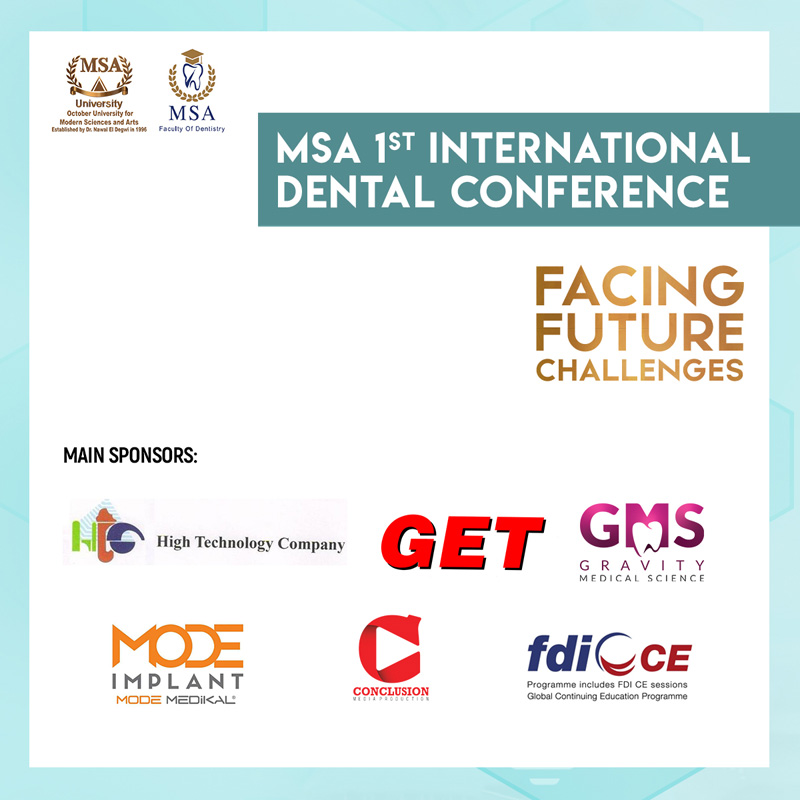 MSA University - 1st International Dental Conference Sponsors