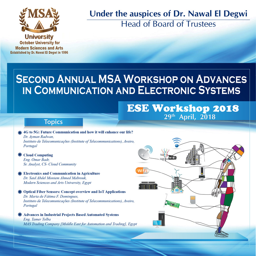 MSA University - Topics of the 2nd MSA International Workshop on Communications & Electronics