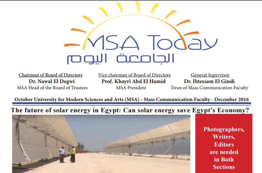 MSA Today - Volume 1, Issue 2, Fall 2016