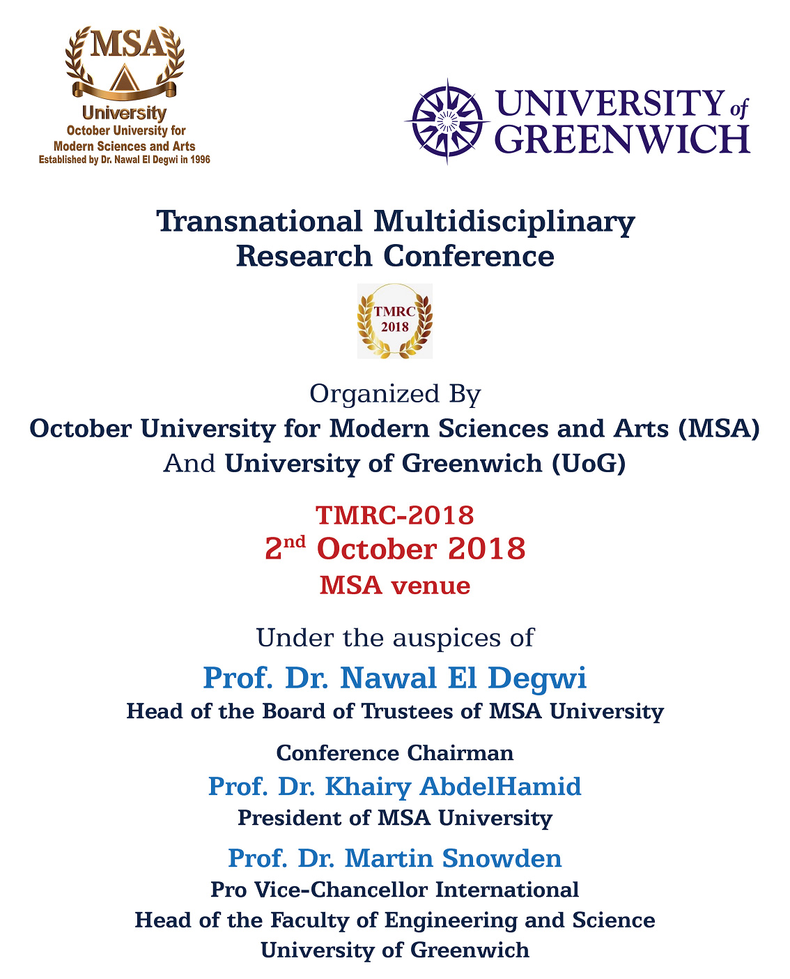 MSA University - Transnational Multidisciplinary Research Conference