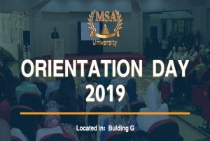 MSA University's Orientation Day